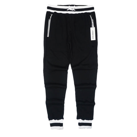 H Striped Track Pant (Black/Wte)