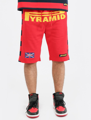 Game Stripe Shorts (Red) / D17
