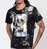 Fashion Skull Graffti Tee (Black) / D6
