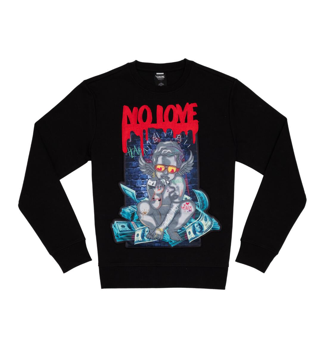 No Love Crewneck (Black) /C9