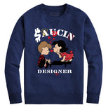 Saucin Designer Crewneck (Denim Blue)