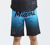 Miami Marlins Gradient Shorts (Blue) / D18