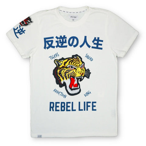 Tiger Patch Embroidery Tee (White)