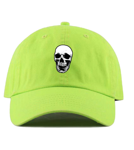 Skull Dad Hat (Neon Green)