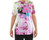 Praying Flames Tie-Dye Tee (Pink/Green) /D18