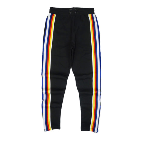 Jeffrey Stripe Track Pant (Black)