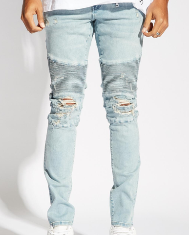 Skywalker Biker Denim (Light Blue) / C5