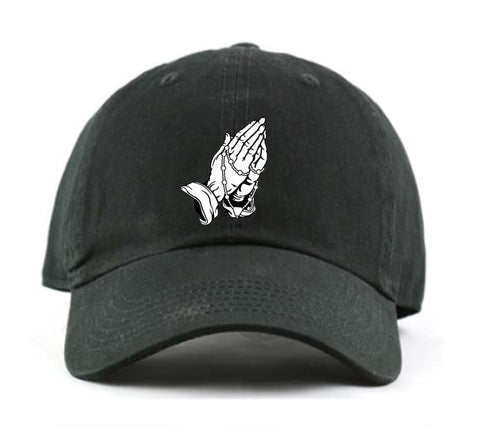 Praying Hands Dad Hat (Black)