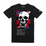 Riot Alone Red/Blue Tee (Black) /D7