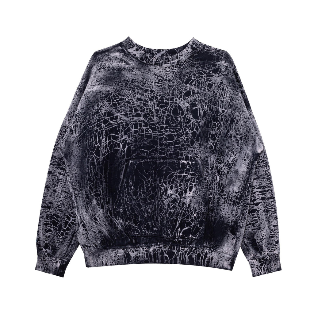 Mud Crack Crew Neck (Black)