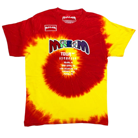 Mream Chenille Tour Tie Dye Tee (Red/Yllw) /D13