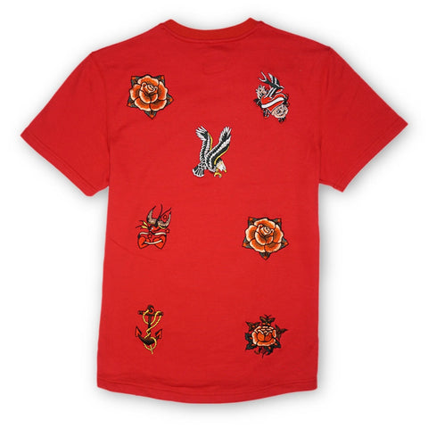 Outlawed Crew Tee (Red)
