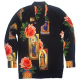 Holy Floral L/S Button Up (Black)