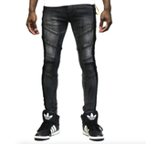 Ranch Stripe  Heavy Washed Denim (Black)