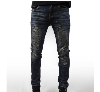 Indigo Dark Denim Jeans (Dark Wash)/ C6