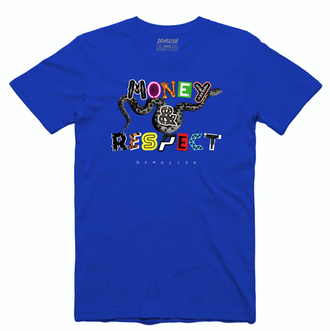 Money & Respect Tee (Blue/Multi) /D2