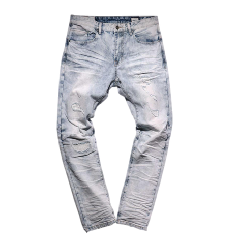 Distressed Wash Denim (Jersey Blue) /C6