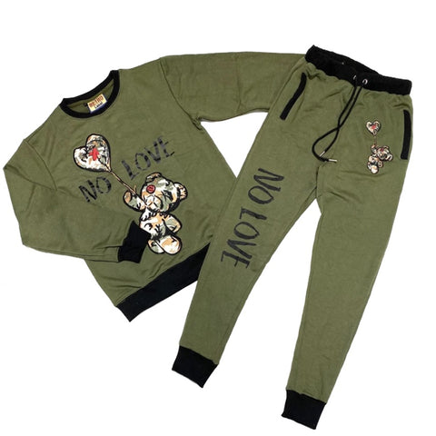 No Love Fleece Set (Olive) /D12