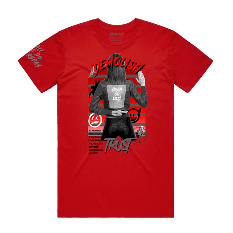 Truth & Lies Tee (Red)