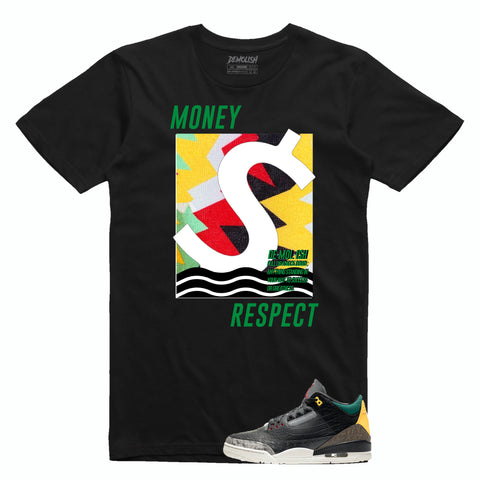 Money Respect Wave Animal Tee (Blk/Green/Red/Yllw)
