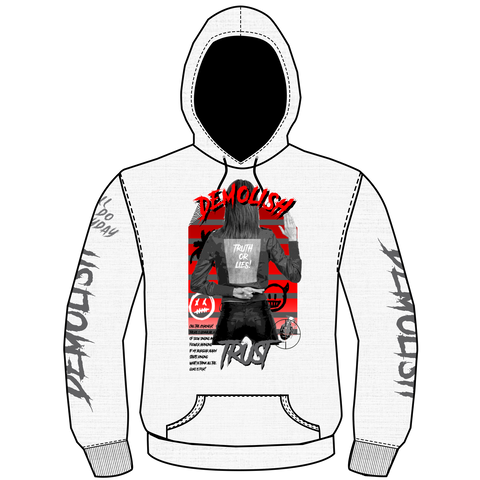 Truth & Lies Hoodie (White) /D8