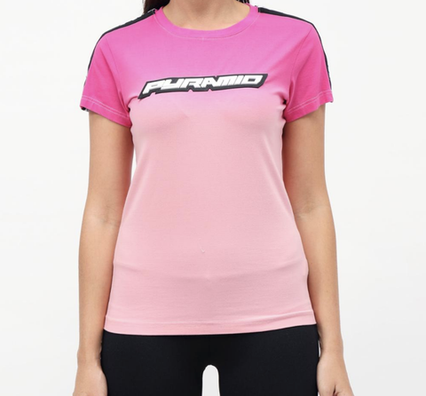 Wmn Ombre Crew T-Shirt (Pink) / MD2