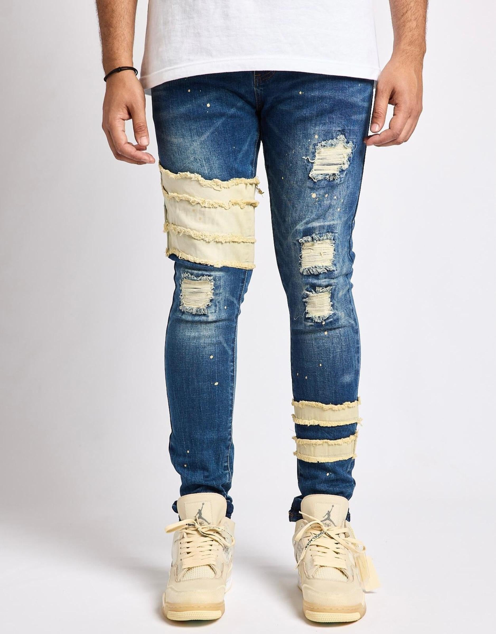 Aden Prem Stretch Denim (Blue) /C3