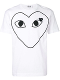 Large Heart Logo Tee (White/Blk) / D9
