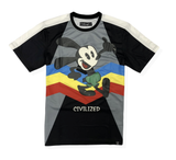 Stripe Down Mouse Tee (Black) /D5