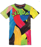 LVL Up Tee (Blk/Grn) /D17