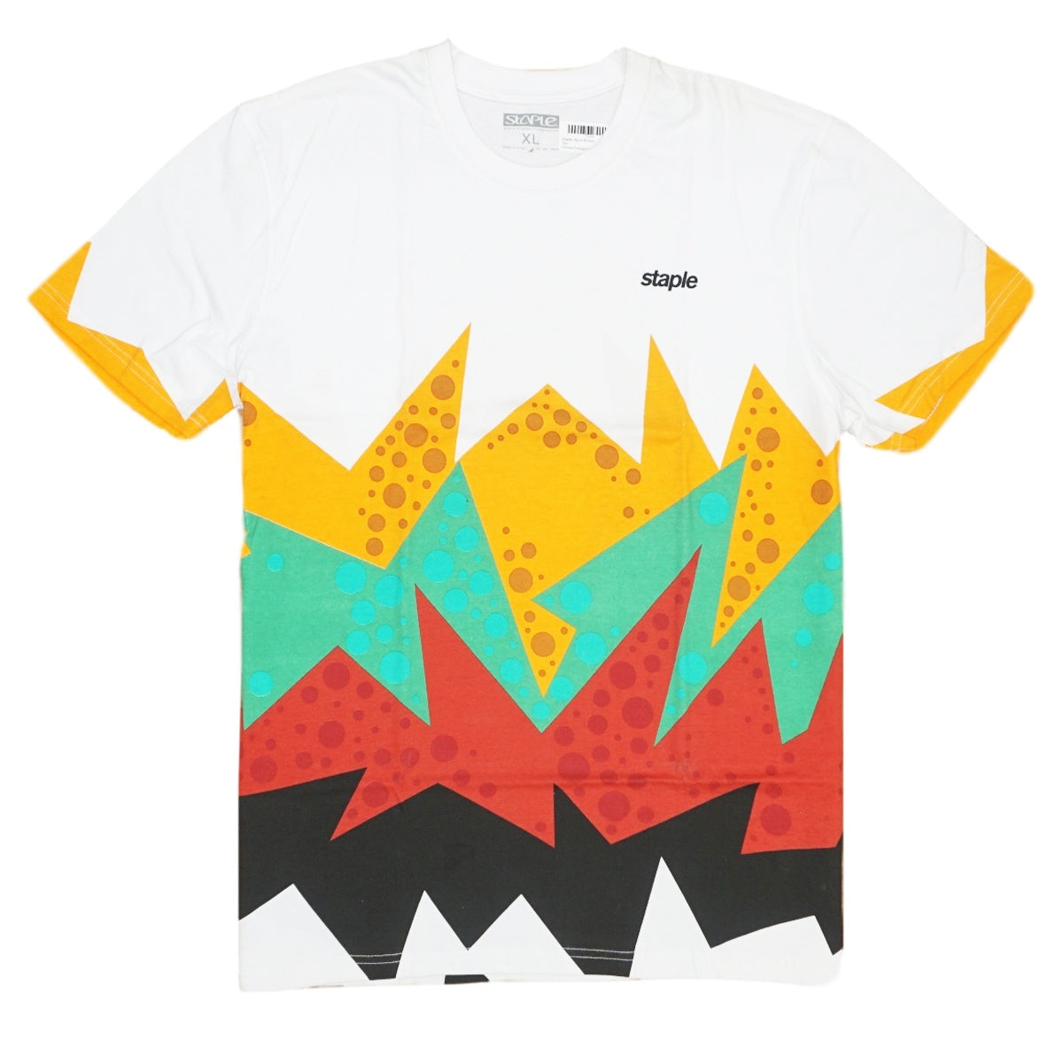Staple- Burst Bottom Tee (White/Orange/Green)