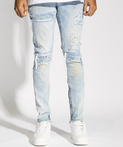 Distressed Wash Pacific Denim ( Light Blue) /C3