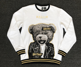 Broke Brother Teddy Bear Crewneck (White) /D18