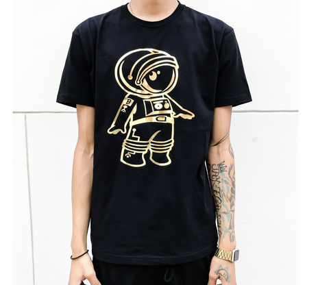 Gold Foil Cosmo Tee (Black)