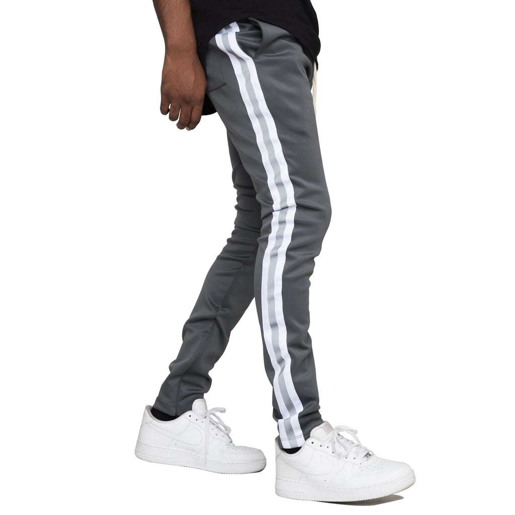 Reflective Track Pants (Grey/White) / D11