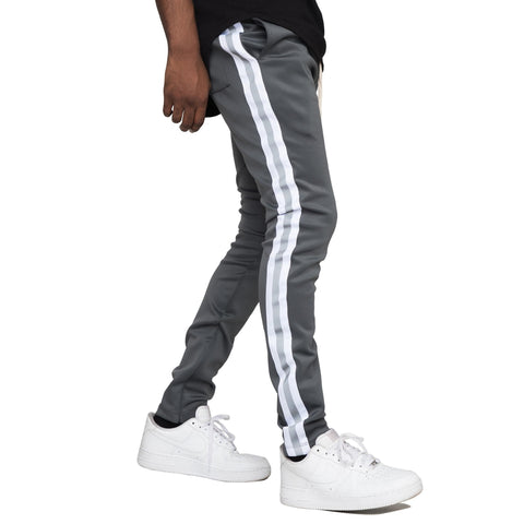 Reflective Track Pants (Grey/White)