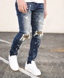 Ray Snake Patch Paint Splatter Denim (Md. Wash) / C3
