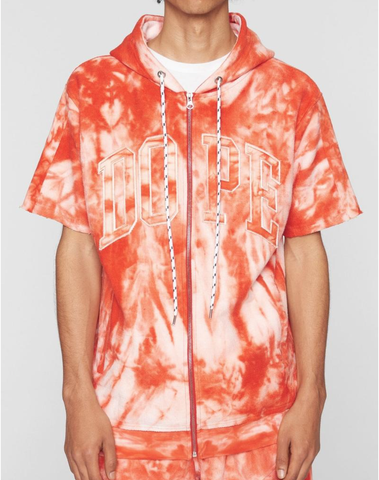 French Terry SS Hoodie Tie-Dye (Orange) /D8