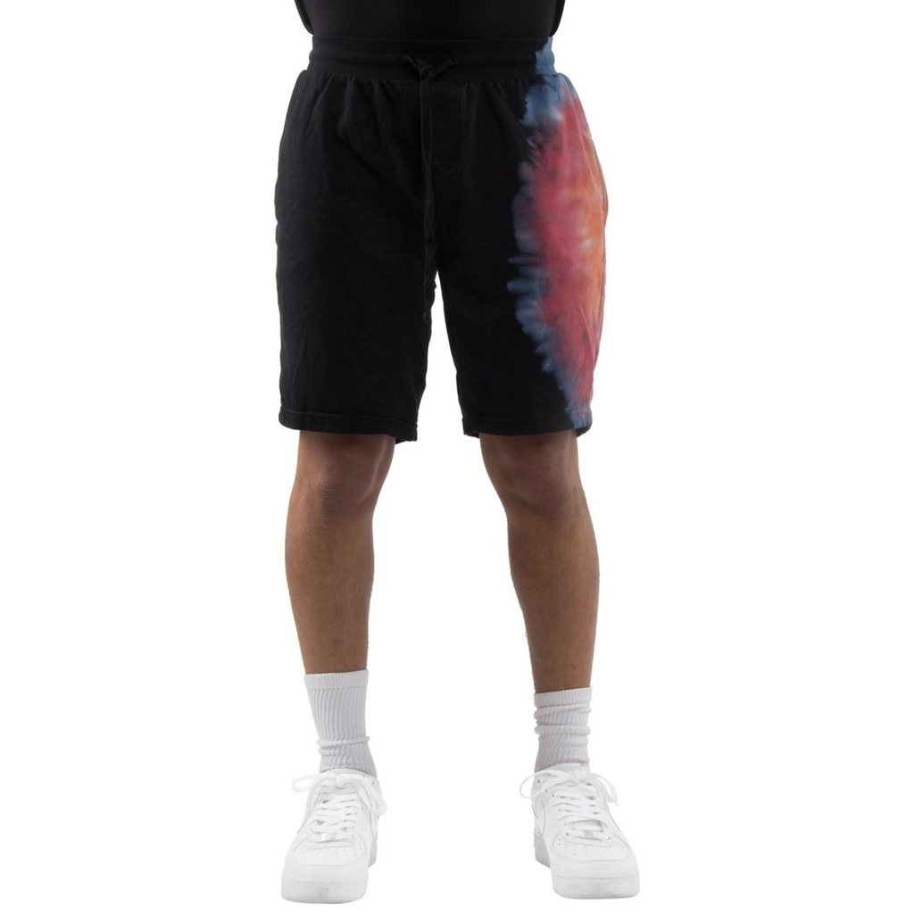 Tie-Dye Shorts (Black/Burg/Blue) /D15