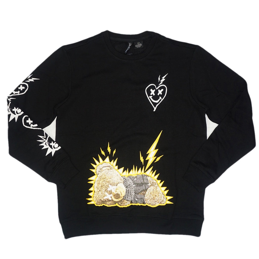 Love and Hate Teddy Crewneck (Black) /D18