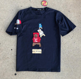 Bear Emb Patch Tee (Navy) /D6