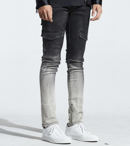 Cooper Pocket Patch Denim (Black Ombre) /C6