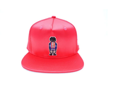 Digital Nerd Satin Snapback (Red)