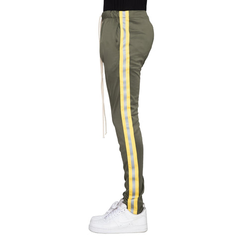 Reflective Track Pants (Olive/Yellow) / D1