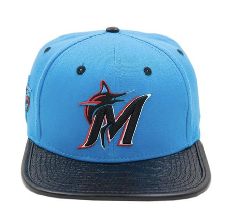 Miami Marlins M Logo Hat (M. Blue)