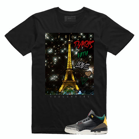 Paris With Love Tee (Blk/Grn/Red/Yllw)