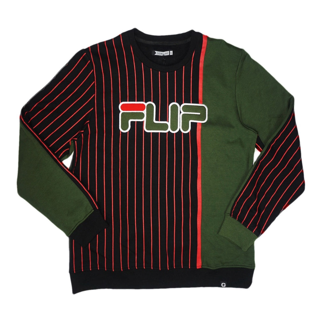 Flip Double Stripe Crew (Black) /D1