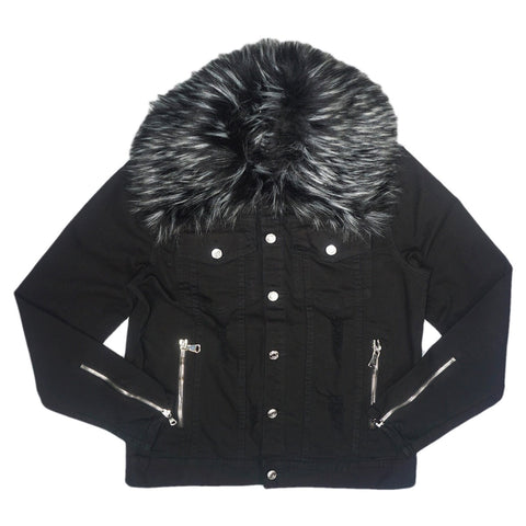 Garry Fur Jacket (Black)