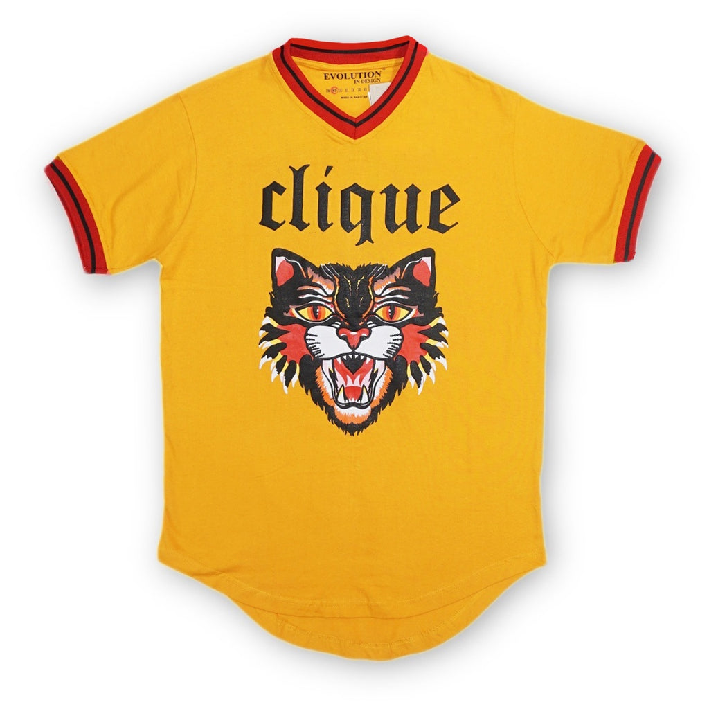 Wildcat V-Neck Tee (Gold)