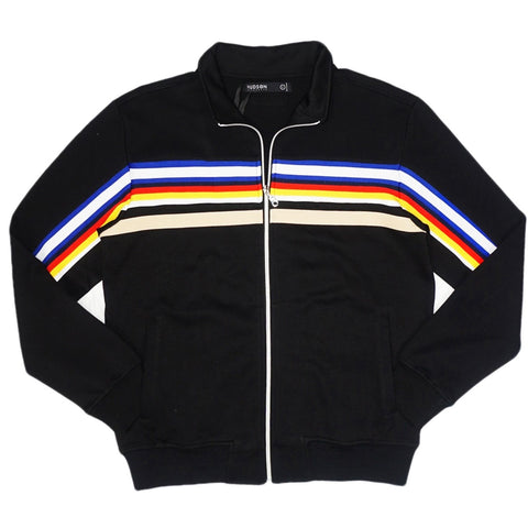 Jeffrey Stripe Track Jacket (Black)